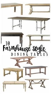 10 Farmhouse Style Dining Tables
