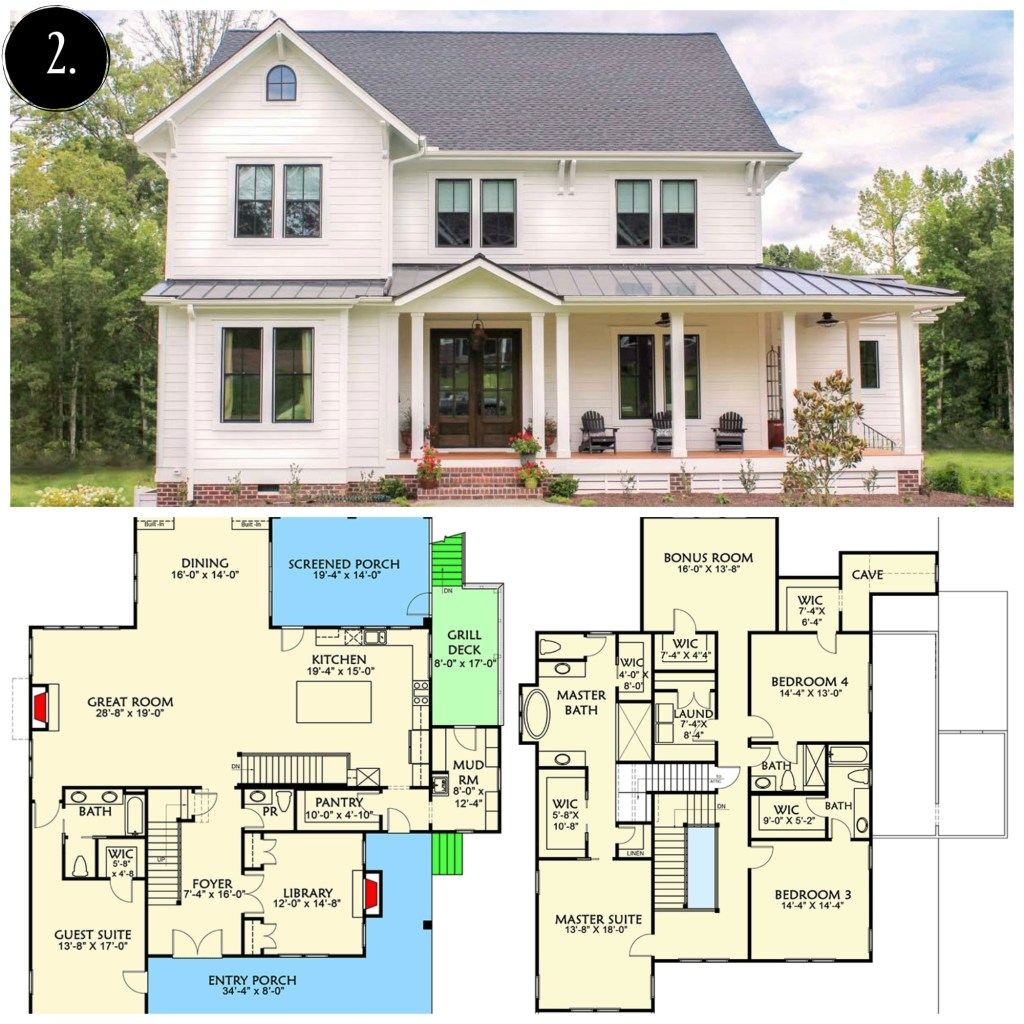10 modern farmhouse floor plans i love rooms for rent blog for Farmhouse plans with pictures