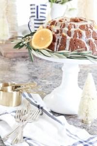 Gingerbread Cake + Orange Glaze