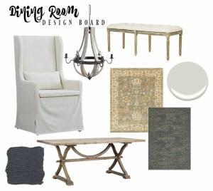 Dining Room Design Board Inspiration