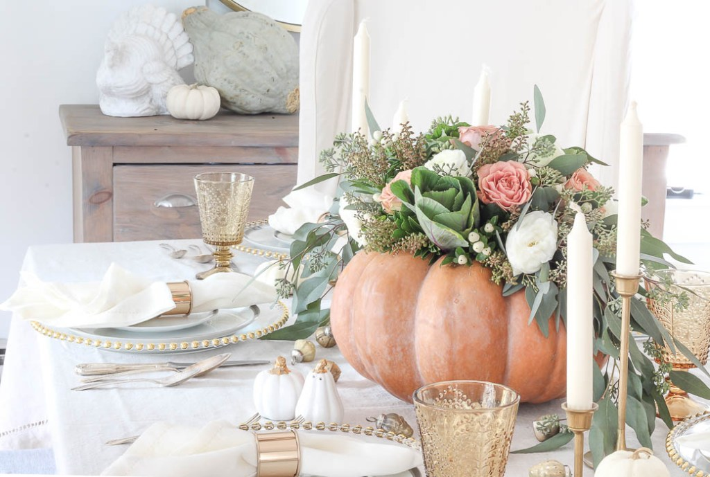 Pumpkin Centerpiece Thanksgiving Table | Rooms FOR Rent Blog