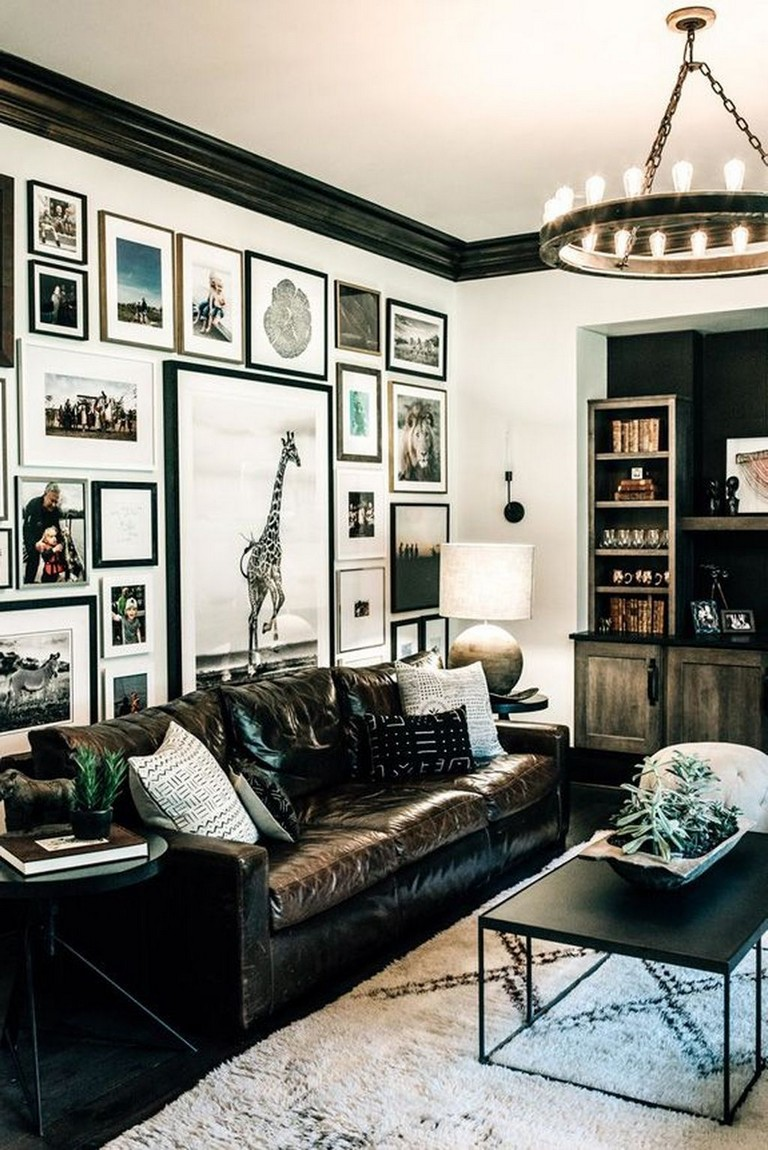 45+ Creative Living Room Wall Gallery Design Ideas - Page ... on Creative Living Room Wall Decor Ideas  id=56257