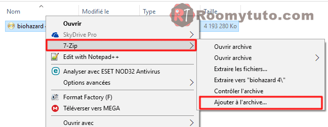 7zip_Comment découper un gros fichier en plusieurs morceaux_1