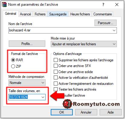 WinRar_Comment découper un gros fichier en plusieurs morceaux_2