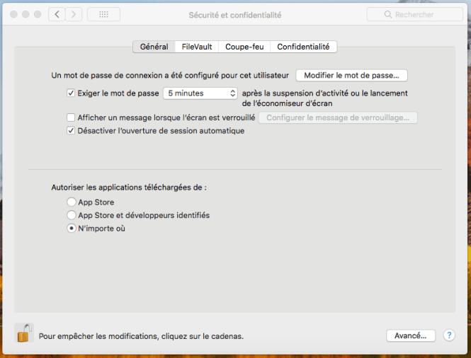 Comment désactiver GateKeeper sur MacOS