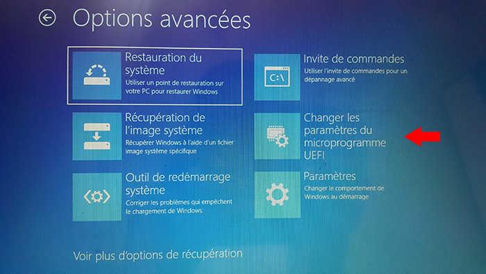 accéder dans le BIOS/UEFI sur Windows 10 et 8_6