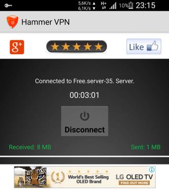internet gratuit 2019 Hammer VPN