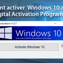 acitver windows 10, WD10 Digital activation Program