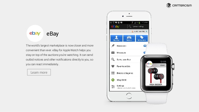 eBay Launches its App for Apple Watch, You Never Lose More