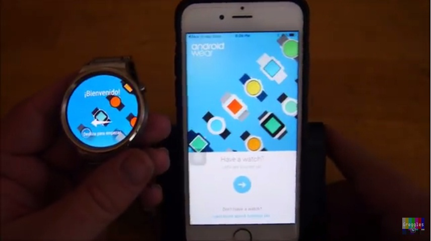 Huawei Watch iPhone 6S 5 Easy Step How to Connect and Setup 4 Android Wear Apps