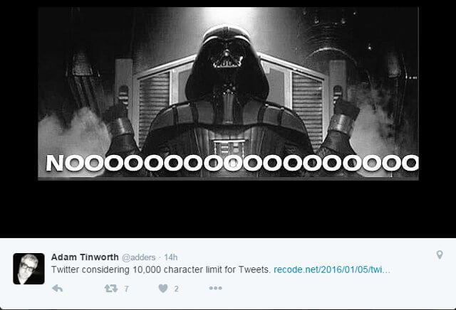 Funny Meme Chides 10 Thousand Twitter Character