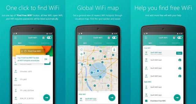 More Easily to Find Free Internet Spot with Swift WiFi Apps
