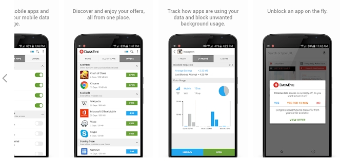 DataEye, data saver for android