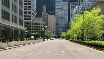 Sixth Avenue at the height of the pandemic shutdown