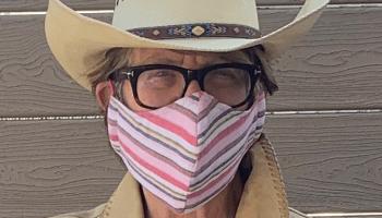Susan Rosenthal with coronavirus face mask