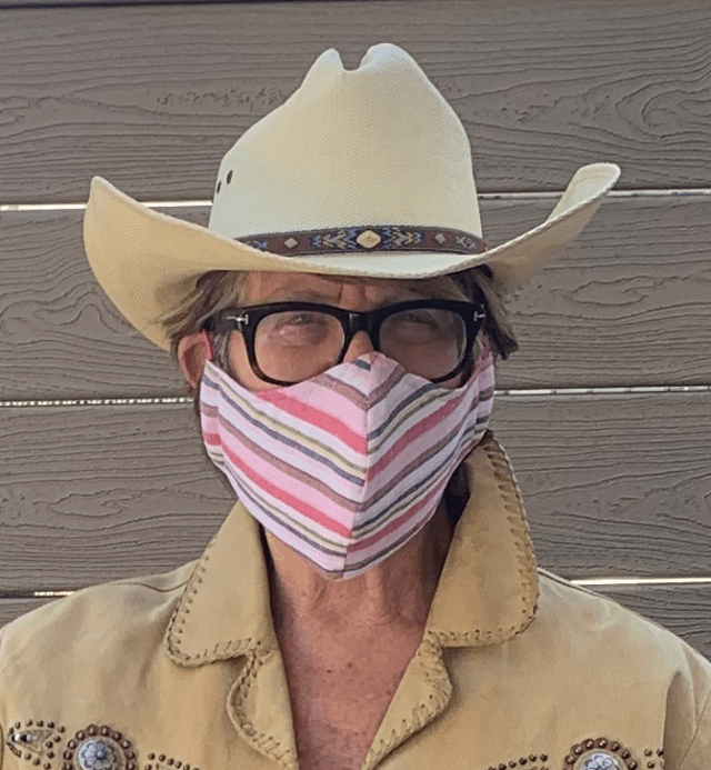 RIOC's fired CEO Susan Rosenthal with coronavirus face mask