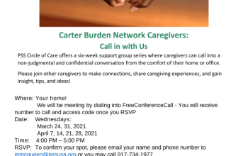 CBN Caregivers Support Group Conference Call