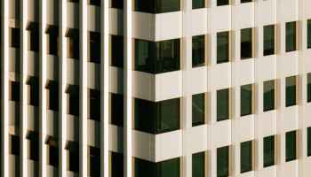 abstract modern building with glass windows