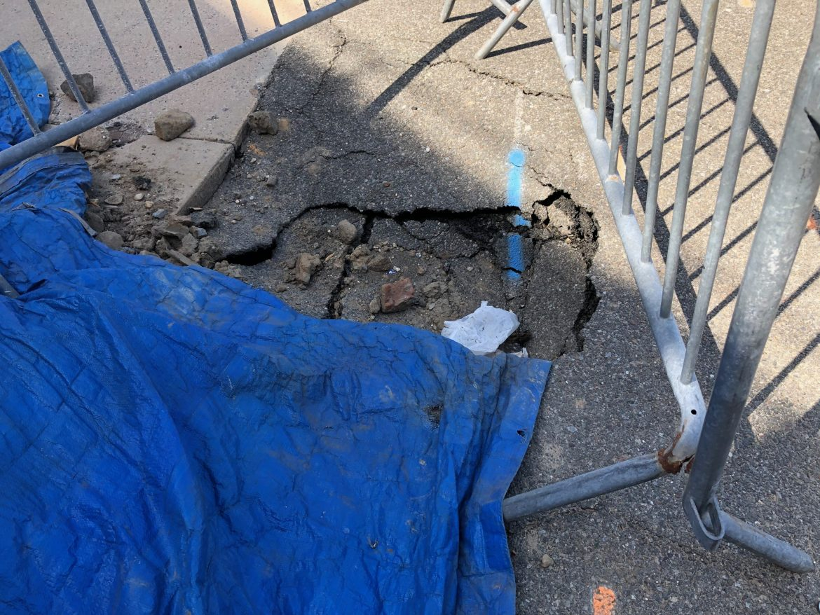 Growing East Promenade Sinkhole Now Almost As Large As RIOC Secrecy