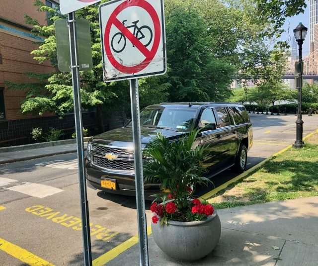Spruced up. The New York State Shelton J. Haynes Parking Area