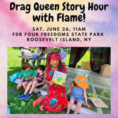 Free Saturday, Don't Miss: Drag Queen Story Hour with Flame