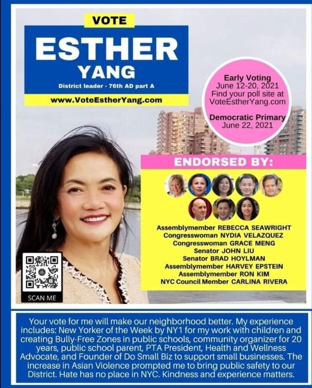 Esther Yang District Leader