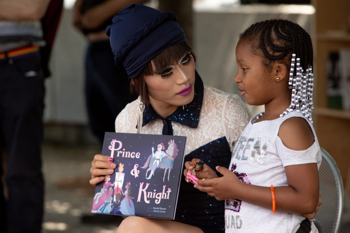 """About the """"fun and fabulous,"""" Drag Queen Story Hour Coming Up in Four Freedoms Park"""