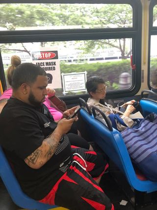 The beat goes on (and on), more maskless Red Bus riders ignored by RIOC…