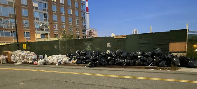 With the AVAC down, piles of black bags proliferate.