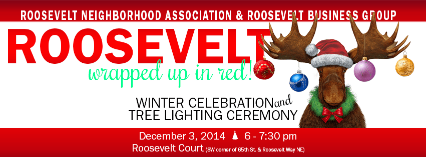 Reminder:  This Wednesday is the Roosevelt Tree Lighting!