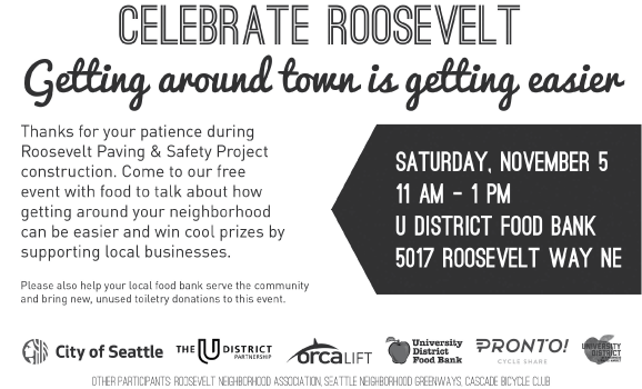 SDOT Roosevelt Repave Celebration