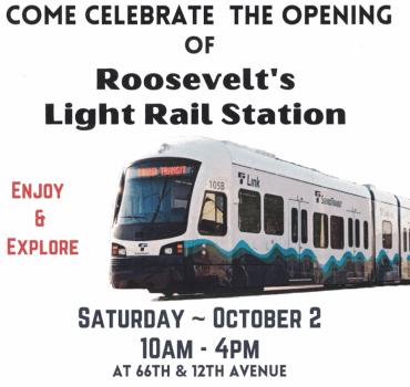 Roosevelt neighborhood Light Rail station opening – Celebration