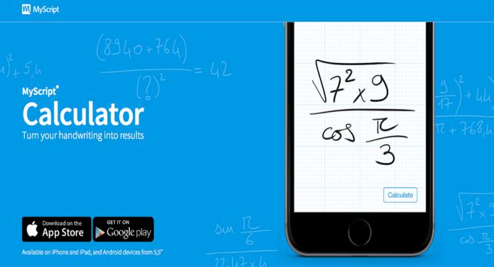 تطبيق MyScript Calculator