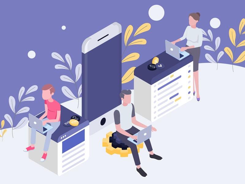 Wordpress-onderhoud-Illustratie-development-team-80%
