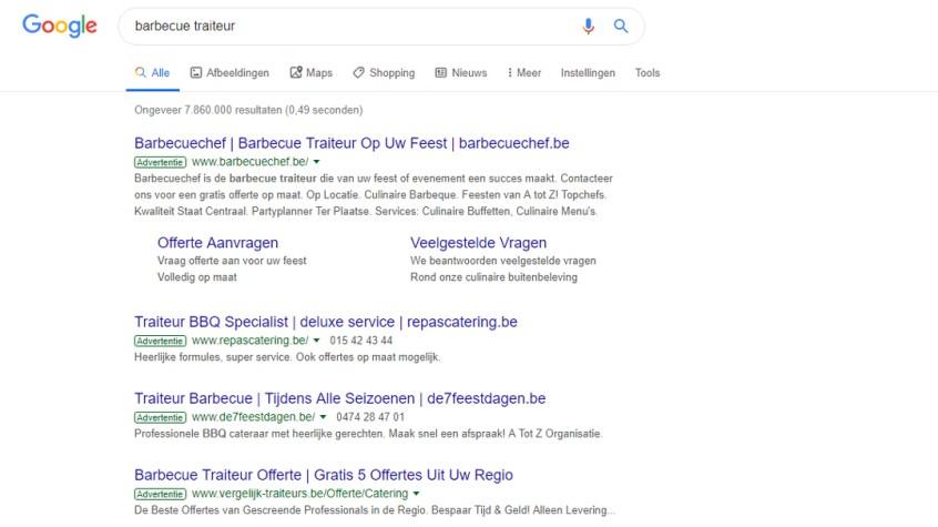 Google-Ads-Barbecuechef-zoekwoord-barbecue-traiteur-bovenaan Google Ads