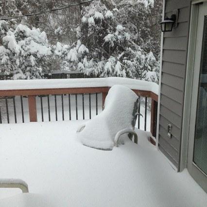 Snowy Chair