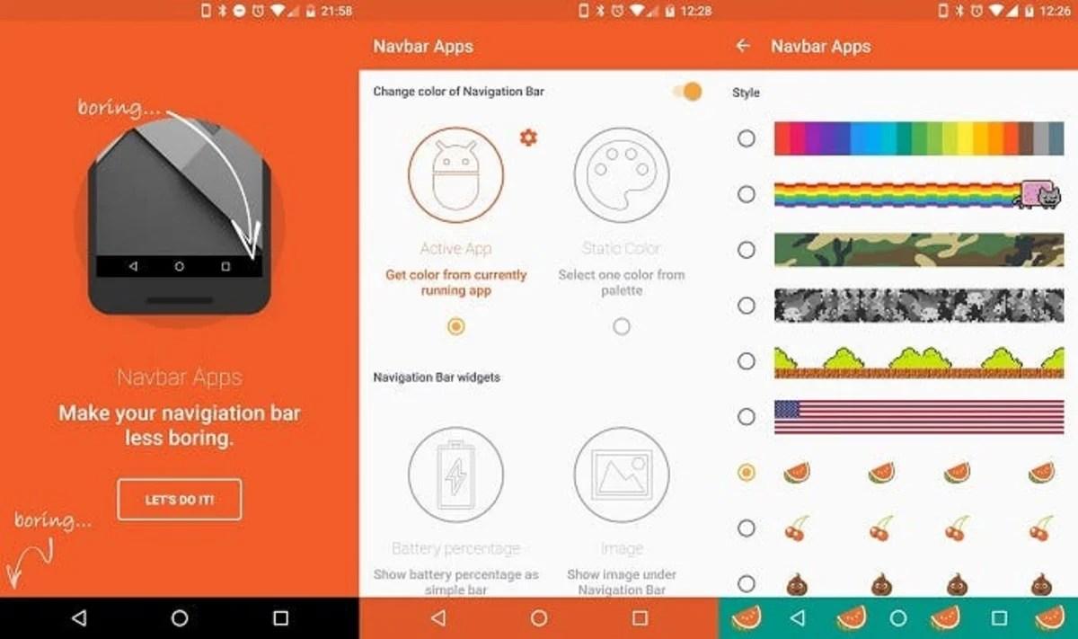 capturas Navbar Apps