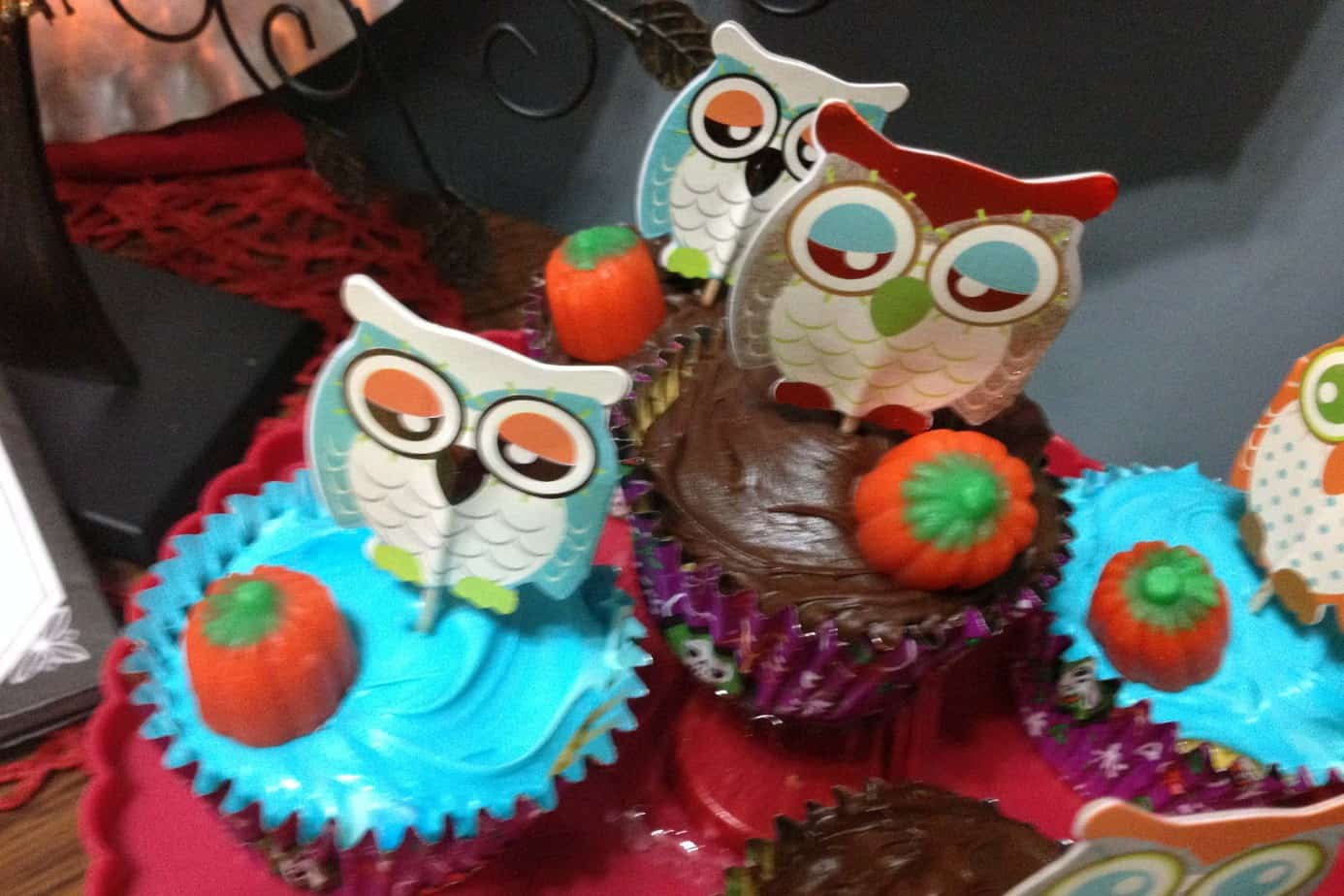 Halloween Party, Owl cupcakes
