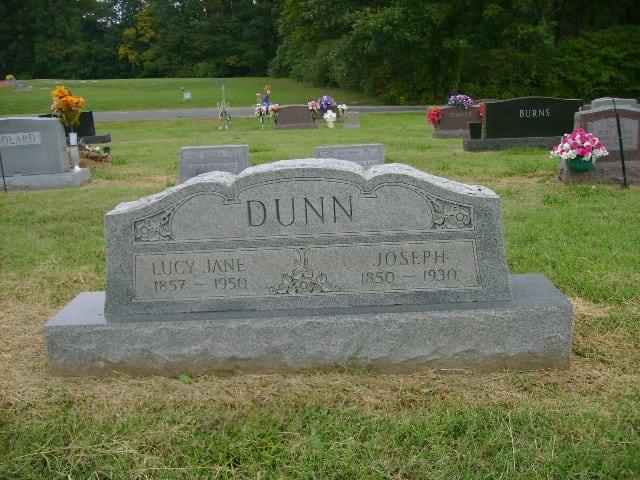 Lucy Jane Land Dunn Gravestone