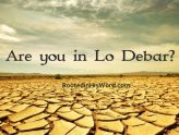 Are you in Lo Debar?