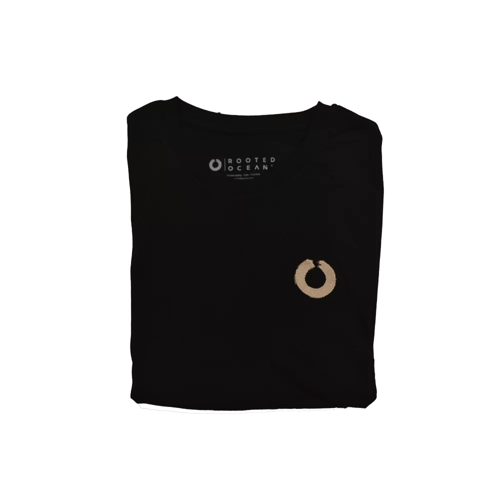 Folded black heritage tee