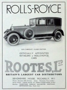 Rootes annonce - Rootes Group historie