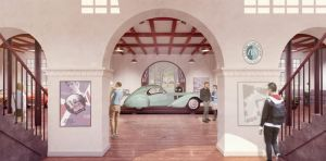 Illustration af Classic Car House