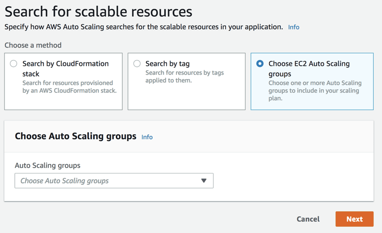 Search for Scalable Resources