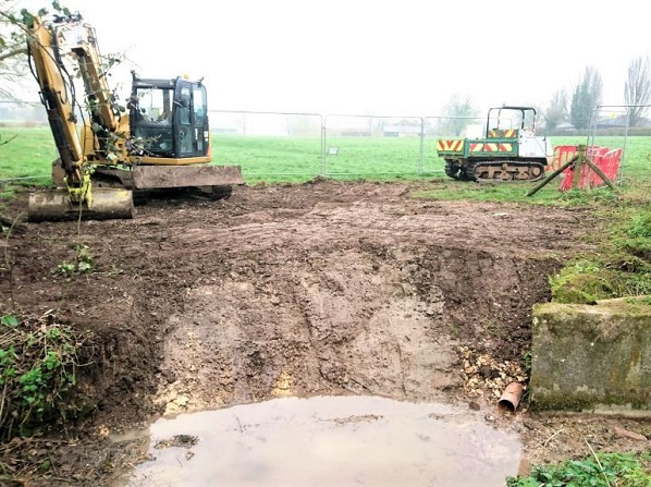 Removal of existing outfall, Bishops Sutton Outfall