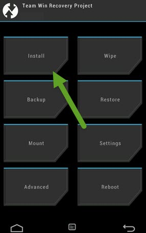 TWRP Recovery Homescreen Install