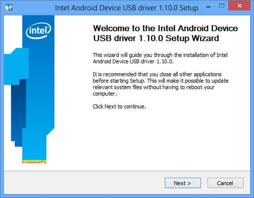 Download Intel Android USB Driver