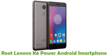 Root Lenovo K6 Power