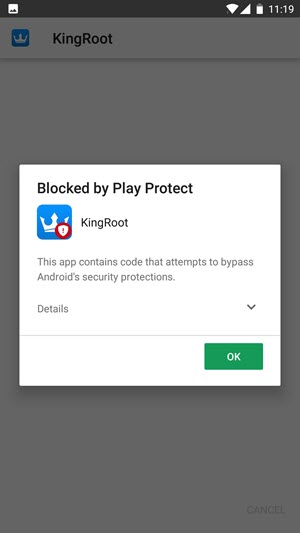 Diblokir Oleh Play Protect