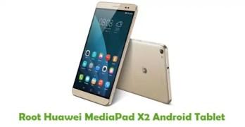 Root Huawei MediaPadX2